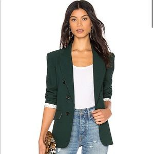 1. State Ruched Sleeve Blazer in Hunter Size S